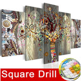 5pcs Full Square/Round Drill 5D DIY Diamond Painting Floral Flower Multi-picture Combination Embroidery - Great Breakthrough