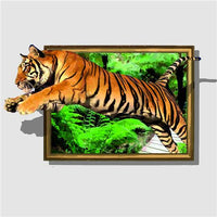 Full Drill Square Diamond Painting Animals 5D Tiger Decoration Home Diamond Embroidery Diamond Mosaic - Great Breakthrough