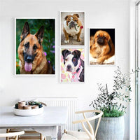 HUACAN Diamond Painting Full Square Dog 5D Diy Diamond Embroidery Picture Mosaic Rhinestone Handmade Gift Home Decor