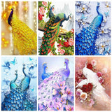 HUACAN Diamond Mosaic Sale Animals Diamond Painting New Square Stones Peacocks Hobby And Handicraft Pictures With Rhinestones