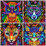 HUACAN 5D Diamond Painting Animal Diamond Art Full Drill New Arrival Cross Stitch Sale Home Decoration