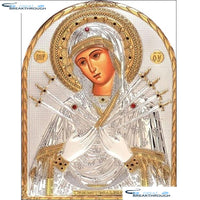 "HOMFUN Full Square/Round Drill 5D DIY Diamond Painting ""Religious figure"" Embroidery Cross Stitch 5D Home Decor Gift A16332"