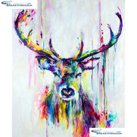 "HOMFUN Full Square/Round Drill 5D DIY Diamond Painting ""Cartoon deer"" Embroidery Cross Stitch 5D Home Decor Gift A13002"