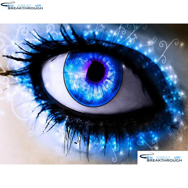 "HOMFUN Diamond Embroidery ""Character eyes"" Pattern DIY 5D Diamond Painting Needlework Cross Stitch Full Drill Painting A18885"