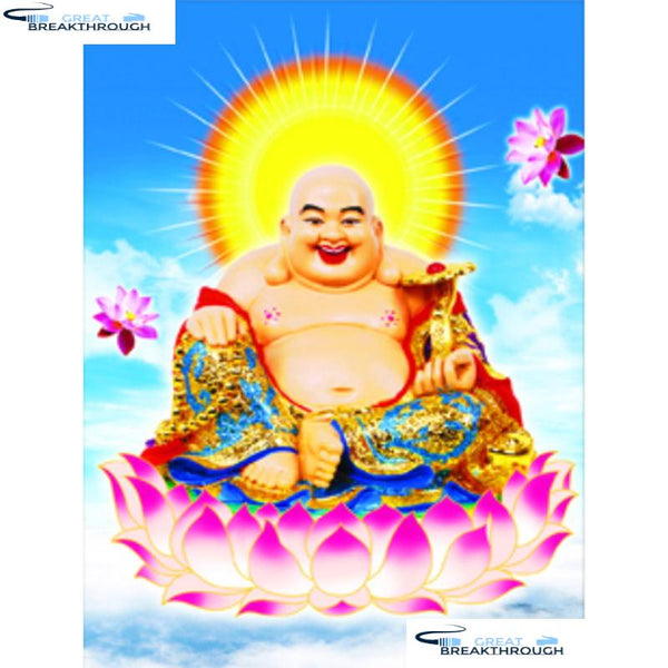 "HOMFUN Full Square/Round Drill 5D DIY Diamond Painting ""Religious Buddha"" 3D Diamond Embroidery Cross Stitch Home Decor A19228"