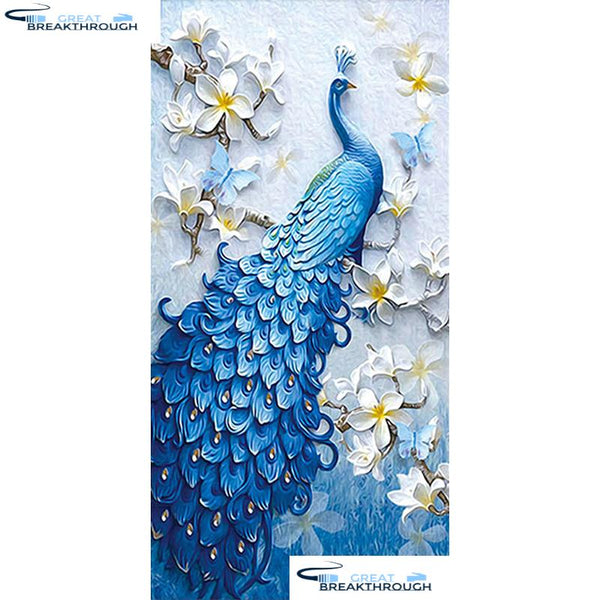 "HOMFUN Full Square/Round Drill 5D DIY Diamond Painting ""Animal peacock"" 3D Embroidery Cross Stitch 5D Home Decor Gift A06218"