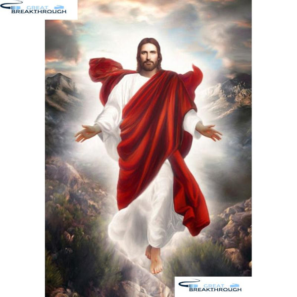 "HOMFUN 5D Diamond Painting Full Drill Diamond Embroidery ""Religious Jesus"" Picture Of Rhinestone Handmade Home Decor A26137"