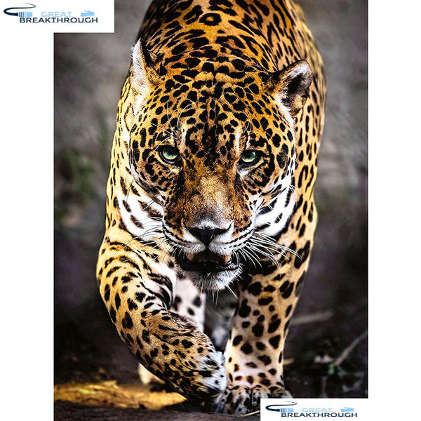 "HOMFUN Full Square/Round Drill 5D DIY Diamond Painting ""Animal leopard"" Embroidery Cross Stitch 5D Home Decor Gift A01530"