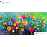 "HOMFUN Full Square/Round Drill 5D DIY Diamond Painting ""Colored flower"" 3D Diamond Embroidery Cross Stitch Decor Gift A18513"