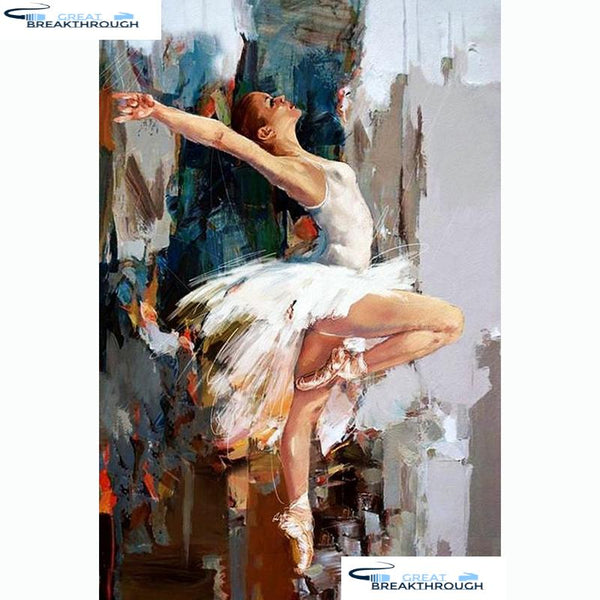 "HOMFUN Full Square/Round Drill 5D DIY Diamond Painting ""Woman dancing"" 3D Embroidery Cross Stitch 5D Home Decor A13189"