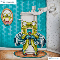 "HOMFUN Full Square/Round Drill 5D DIY Diamond Painting ""Frog toilet"" 3D Embroidery Cross Stitch 5D Home Decor Gift A00614"