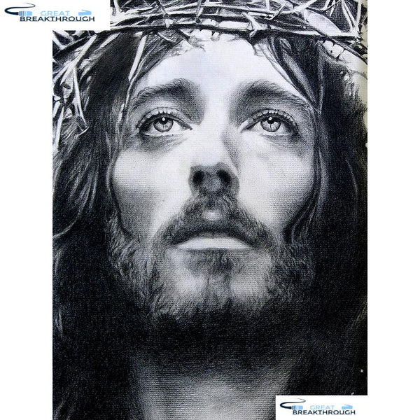 "HOMFUN Full Square/Round Drill 5D DIY Diamond Painting ""Jesus religion"" 3D Embroidery Cross Stitch 5D Home Decor A00694"