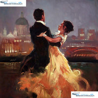 "HOMFUN Full Square/Round Drill 5D DIY Diamond Painting ""Couple dancing"" 3D Embroidery Cross Stitch 5D Decor Gift A13509"