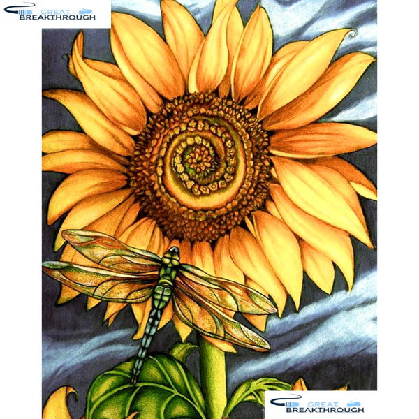 "HOMFUN Full Square/Round Drill 5D DIY Diamond Painting ""Sunflower flower"" 3D Embroidery Cross Stitch 5D Home Decor A16099"