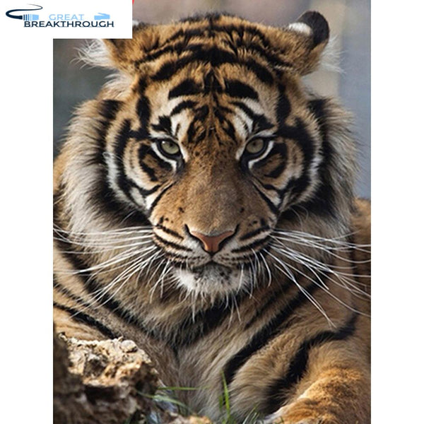 HUACAN Diamond Embroidery 5D DIY Diamond Painting Tiger Full Square/Round Drill Mosaic Painting Cross Stitch Decoration