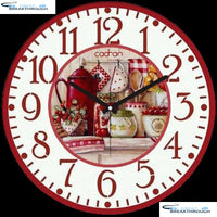 "HOMFUN Full Square/Round Drill 5D DIY Diamond Painting ""Fruit basket clock"" 3D Diamond Embroidery Cross Stitch Home Decor A21384"