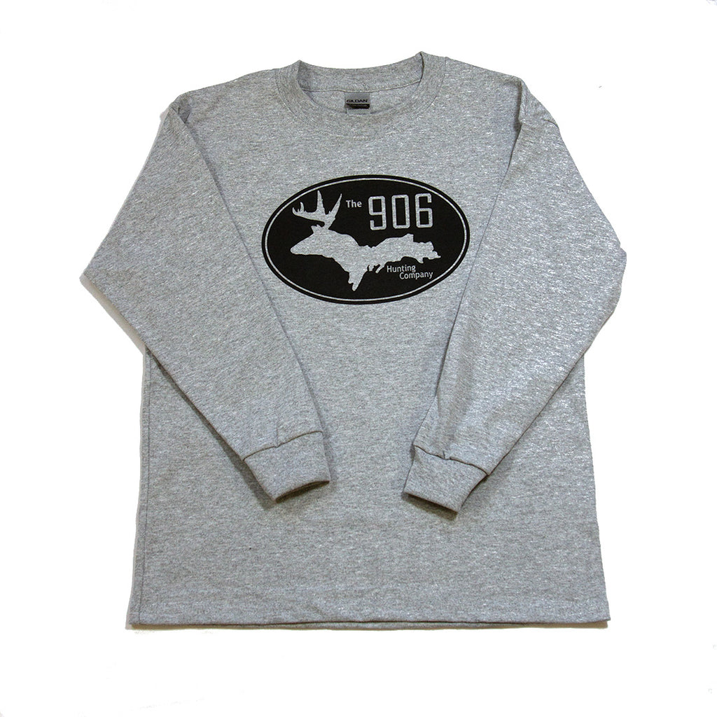 Youth Gray Logo Longsleeve