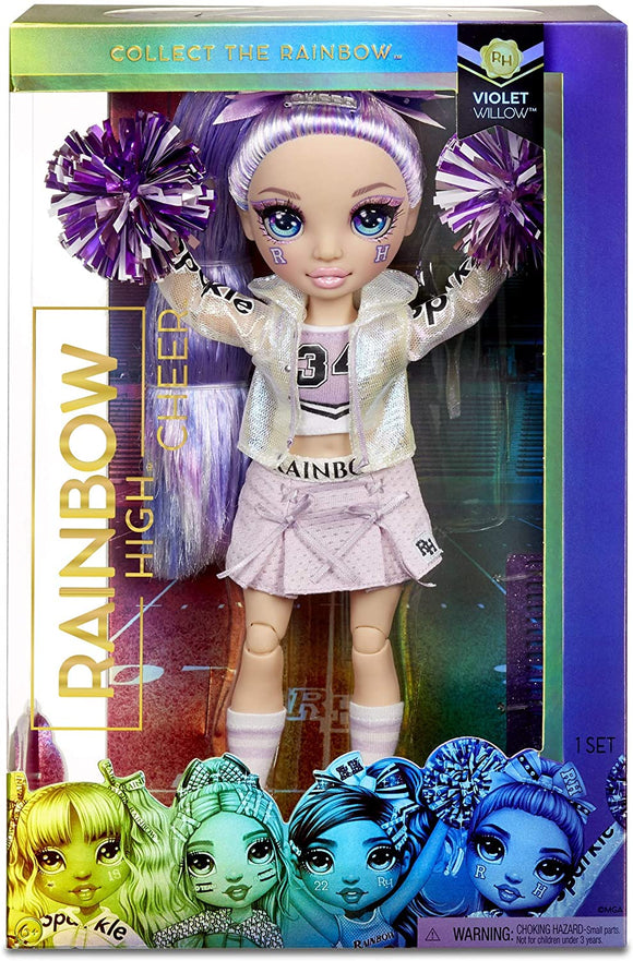 MGA 572084EUC RAINBOW HIGH CHEER LEADER DOLL VIOLET WILLOW