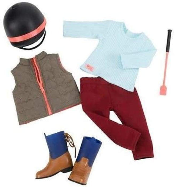 OUR GENERATION 30268 WELL GROOMED HORSE RIDING OUTFIT