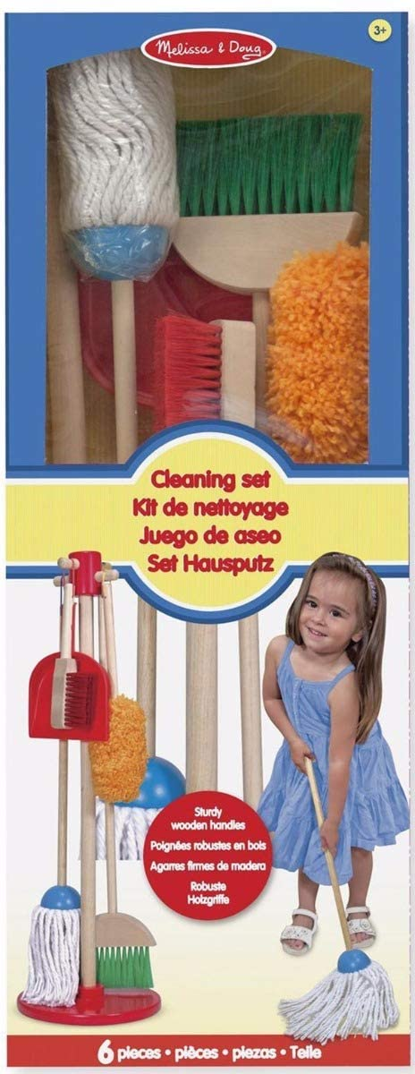 MELISSA & DOUG 18600 WOODEN DUSTING AND SWEEPING PLAYSET