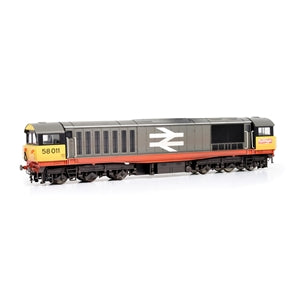 EFE E84005 CLASS 58 58011 BR RAILFREIGHT RED STRIPE WEATHERED