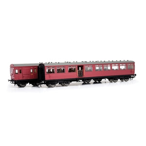EFE E86001 LSWR 2 CAR GATE STOCK SET BR CRIMSON