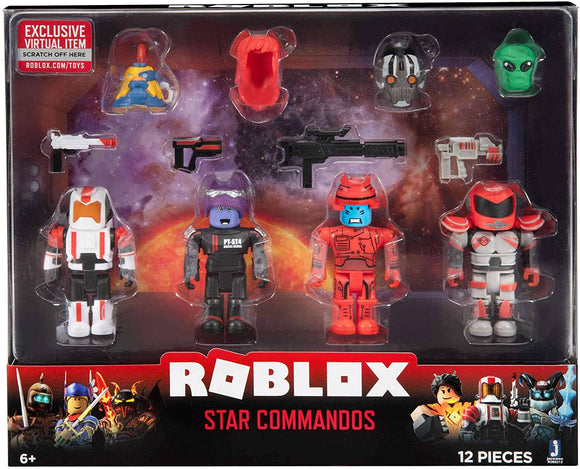 ROBLOX ROB0213 STAR COMMANDOS 4 FIGURE PACK AND ACCESSORIES