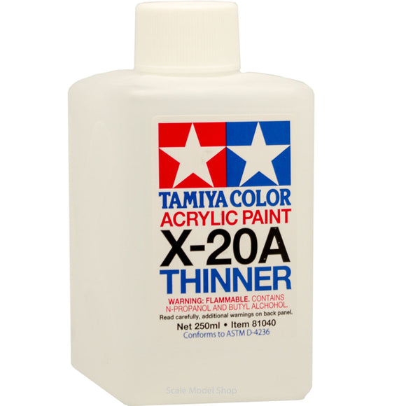 TAMIYA ACRYLIC PAINT  THINNERS 81040