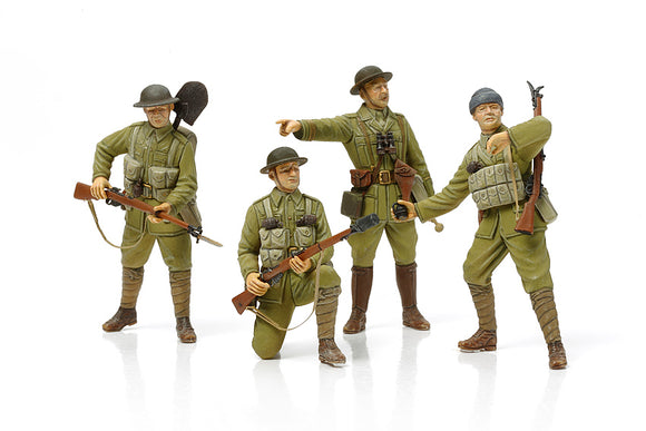TAMIYA 32409 WWI BRITISH INFANTRY SET WITH SMALL ARMS AND EQUIPMENT 1/35 SCALE