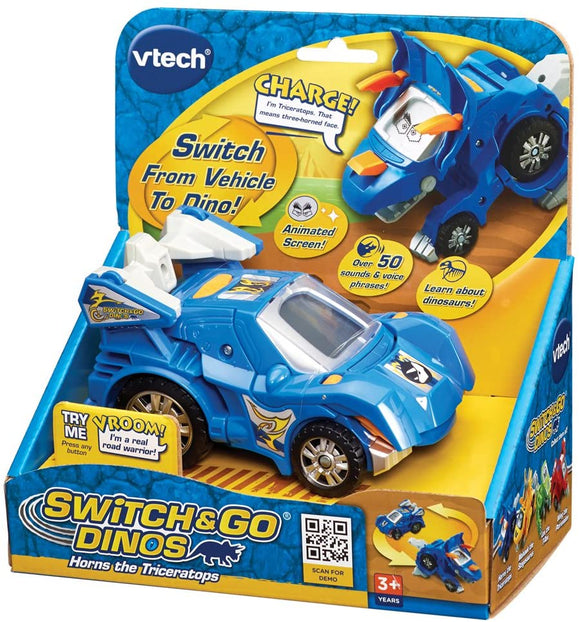 VTECH 122403 SWITCH & GO DINOS HORNS THE TRICERATOPS