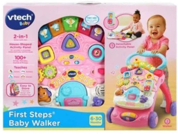 VTECH 505653 FIRST STEPS BABY WALKER PINK