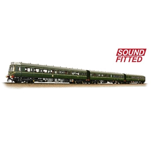 BACHMANN 35-500SF CLASS 117 3 CAR DMU BR GREEN SPEED WHISKERS SOUND FITTED