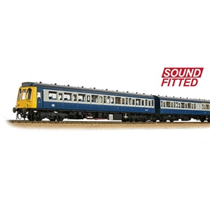 BACHMANN 35-501SF CLASS 117 3 CAR DMU BR BLUE AND GREY SOUND FITTED