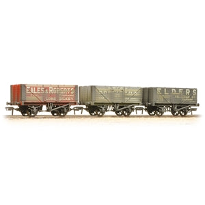 BACHMANN 37-095A 7PLANK WAGONS COAL TRADER TRIPLE PACK WEATHERED