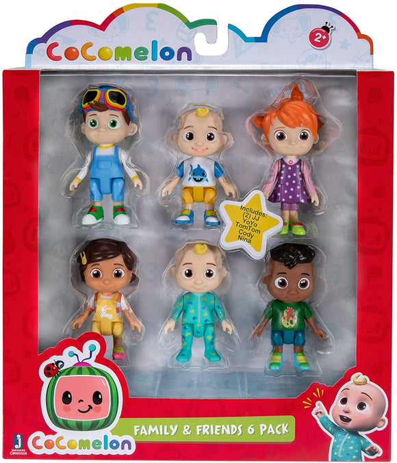 COCOMELON WT80107 FAMILY AND FRIENDS 6 PACK