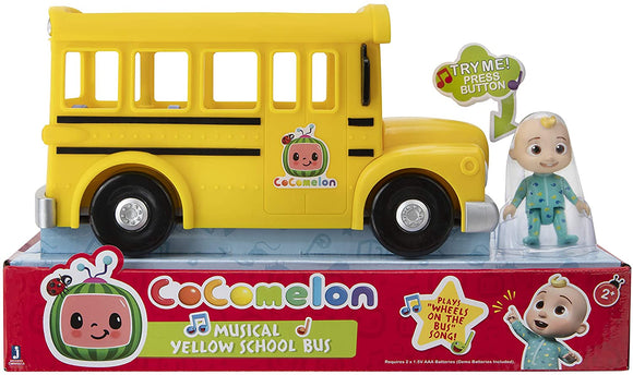 COCOMELON WT80113 MUSICAL YELLOW SCHOOL BUS
