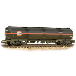 GRAHAM FARISH 373-562 102T TEA BOGIE TANK WAGON GULF BLACK WEATHERED
