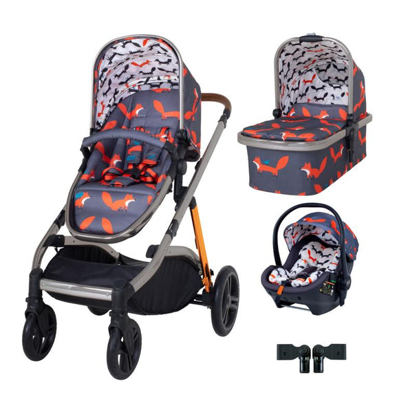 Cosatto Wow XL Premium Travel System Bundle Charcoal Mister Fox