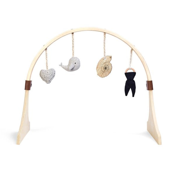 Little Green Sheep curved wooden play gym- Ocean Whale