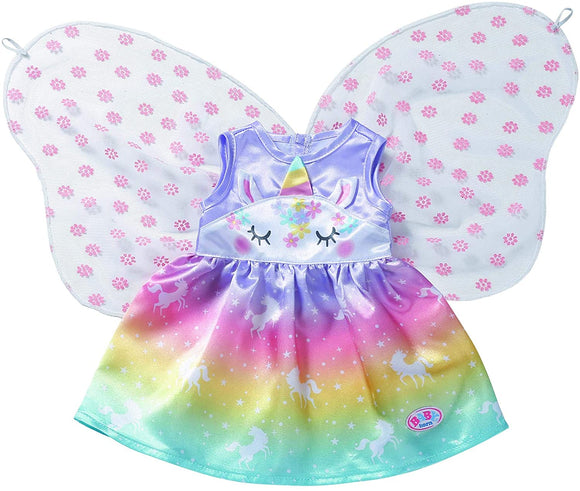 BABY BORN 829301 UNICORN FAIRY OUTFIT