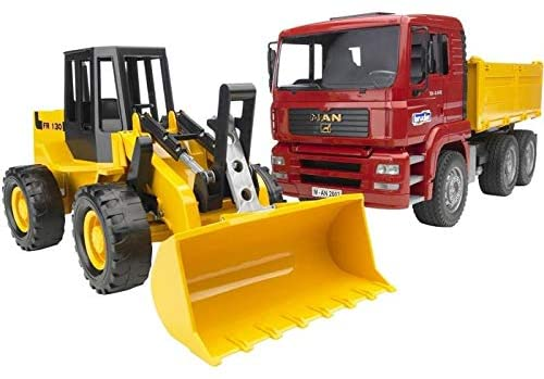 BRUDER 2752 Man TGA Tipper Truck With Wheel Loader