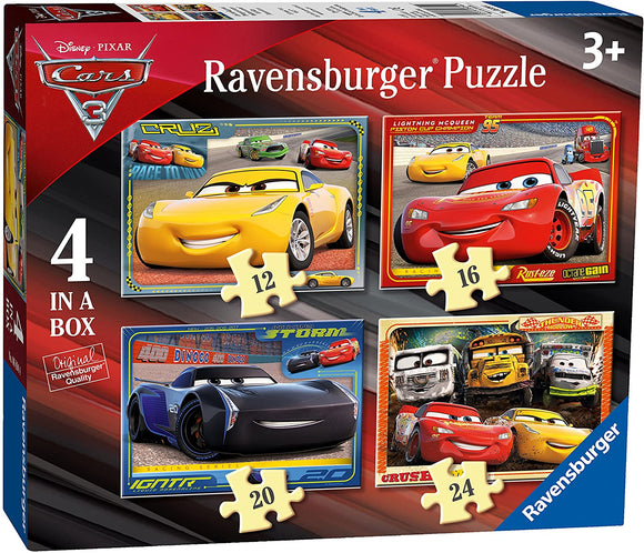 RAVENSBURGER 6894 CARS 3 4 IN A BOX PUZZLE