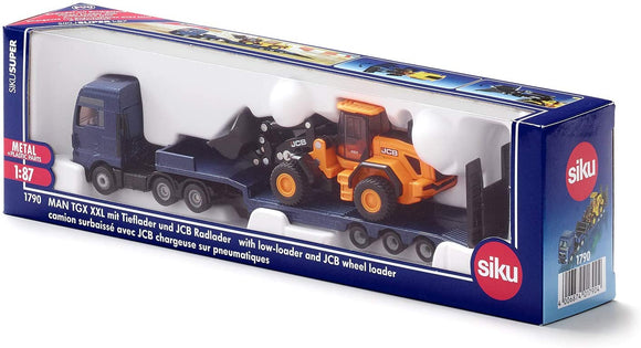 SIKU 1790 MAN TRUCK WITH LOW-LOADER & JCB WHEEL LOADER 1:87 SCALE