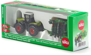 SIKU 1826 CLAAS TRACTOR WITH SEEDER 1:87 SCALE