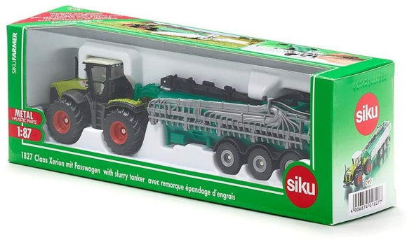 SIKU 1827 CLAAS XERION WITH SLURRY TANKER 1:87 SCALE
