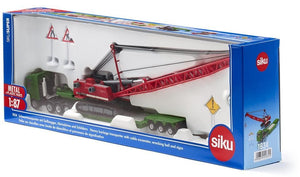 SIKU 1834 HEAVY HAULAGE TANSPORTER WITH EXCAVATOR & WRECKING BALL 1:87 SCALE