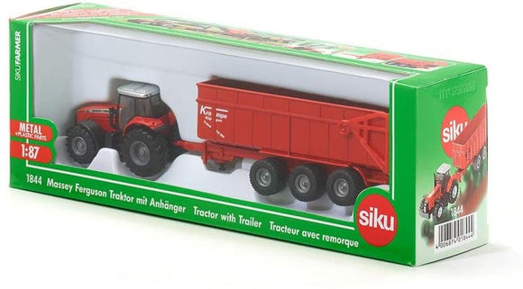 SIKU 1844 MASSEY FERGUSON WITH TRAILER 1:87 SCALE