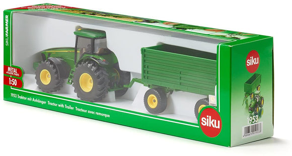 SIKU 1953 JOHN DEERE TRACTOR WITH TRAILER
