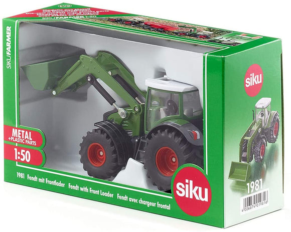 SIKU 1981 FENDT WITH FRONT LOADER 1:50 SCALE