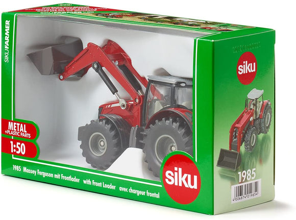 SIKU 1985 MASSEY FERGUSON WITH FRONT LOADER 1:50 SCALE